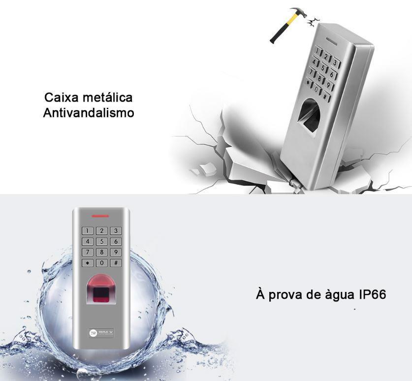 Controlo de Acesso biométrico e teclado FCATF2